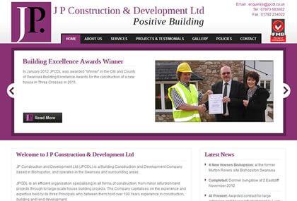 J P Construction & Development Ltd Website Development