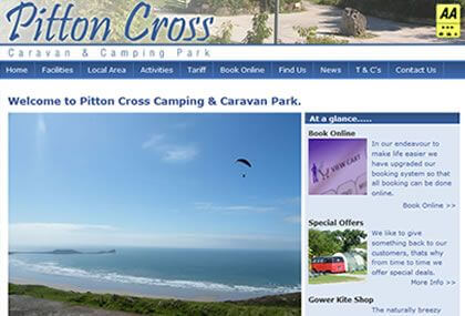 Pitton Cross Caravan & Camping Web Design