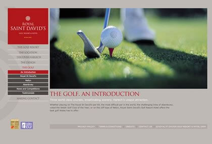 Royal St Davids Golf Course Website Design