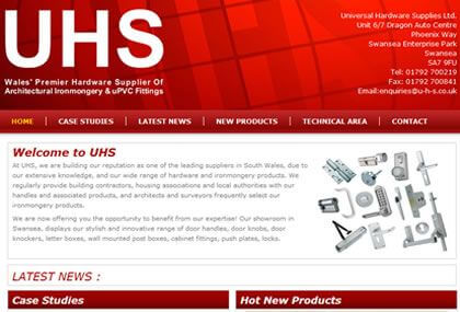 Universal Hardware Supplies Web Site
